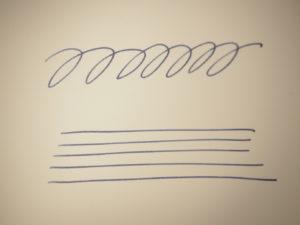 ペリカンスーベレーン M600 万年筆 筆跡