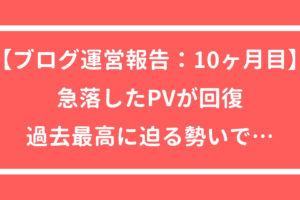 ブログ運営報告 アクセス PV
